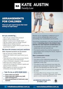 children arrangements - Amicable separation