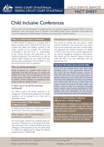 Child Inclusive Conflict